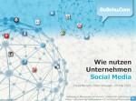 Unternehmen Social Media