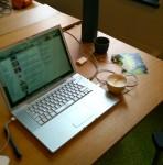 """""""Mein"""" Schreibtisch im CoWorking Space Combinat 56"""