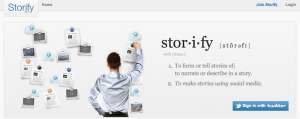 Screenshot Storify