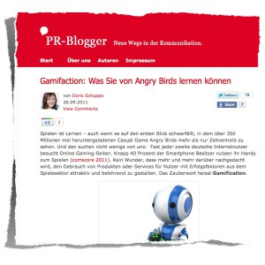 Screenshot PR-Blogger :: Gamification...