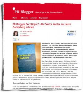 PR-Blogger.de :: Social Media Newsroom PR-Roman (Screenshot)
