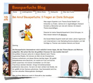 Bausparfuchsblog Interview :: Screenshot