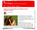 Facebook Storytelling :: Screenshot PR-Blogger.de