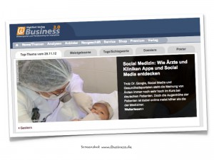 ibusiness.de :: Social Medizin (Screenshot)