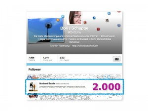 @DoSchu :: 2000 Twitter Follower