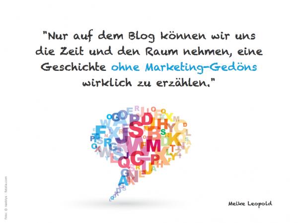 Blog ohne Marketinggedöns :: Meike Leopold