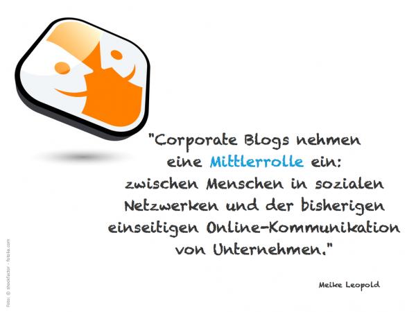 Blog als Mittler :: Meike Leopold