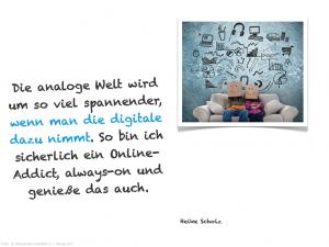 Heike Scholz :: Zitat Analog und Digital