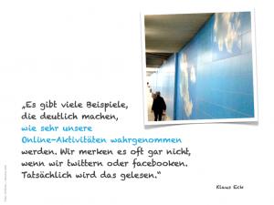 Klaus Eck: Online Aktivitäten werden wahrgenommen