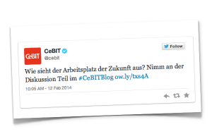 CeBIT Blogparade Tweet