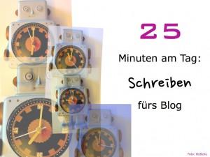 25 Minuten Schreiben fürs Blog