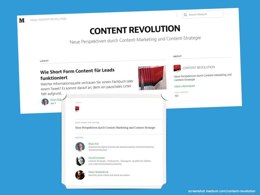 Content Revolution / Medium.com
