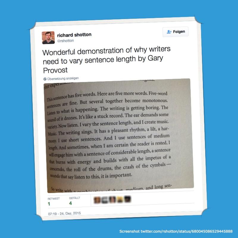 Gary Provost Zitat in Tweet