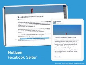 Facebook Notizen