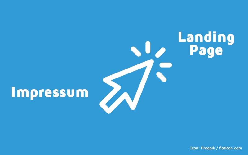 Impressum als Landing Page