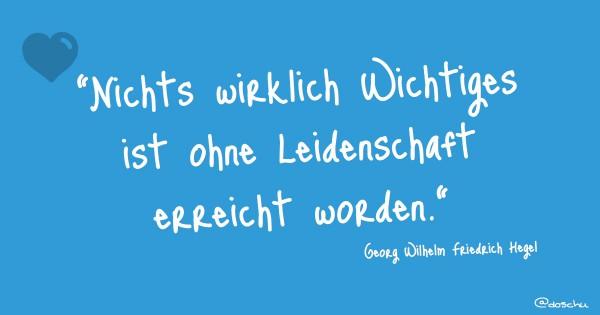 Hegel Leidenschaft