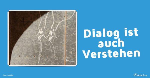 Dialog ist auch Verstehen  - chalkart by Renato del Solar