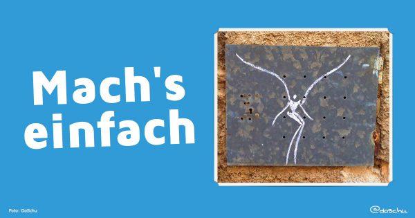 Mach's einfach - Illustration mit chalkart by Renato del Solar
