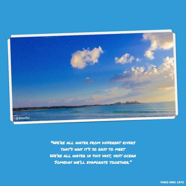 Songtext mit Meeresfoto