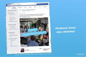 Facebook hashtag Suche