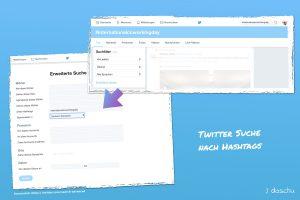Twitter hashtag Suche