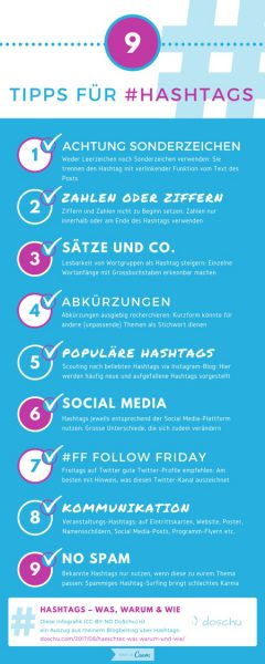 Infografik 9 Tipps für Hashtags - Preview
