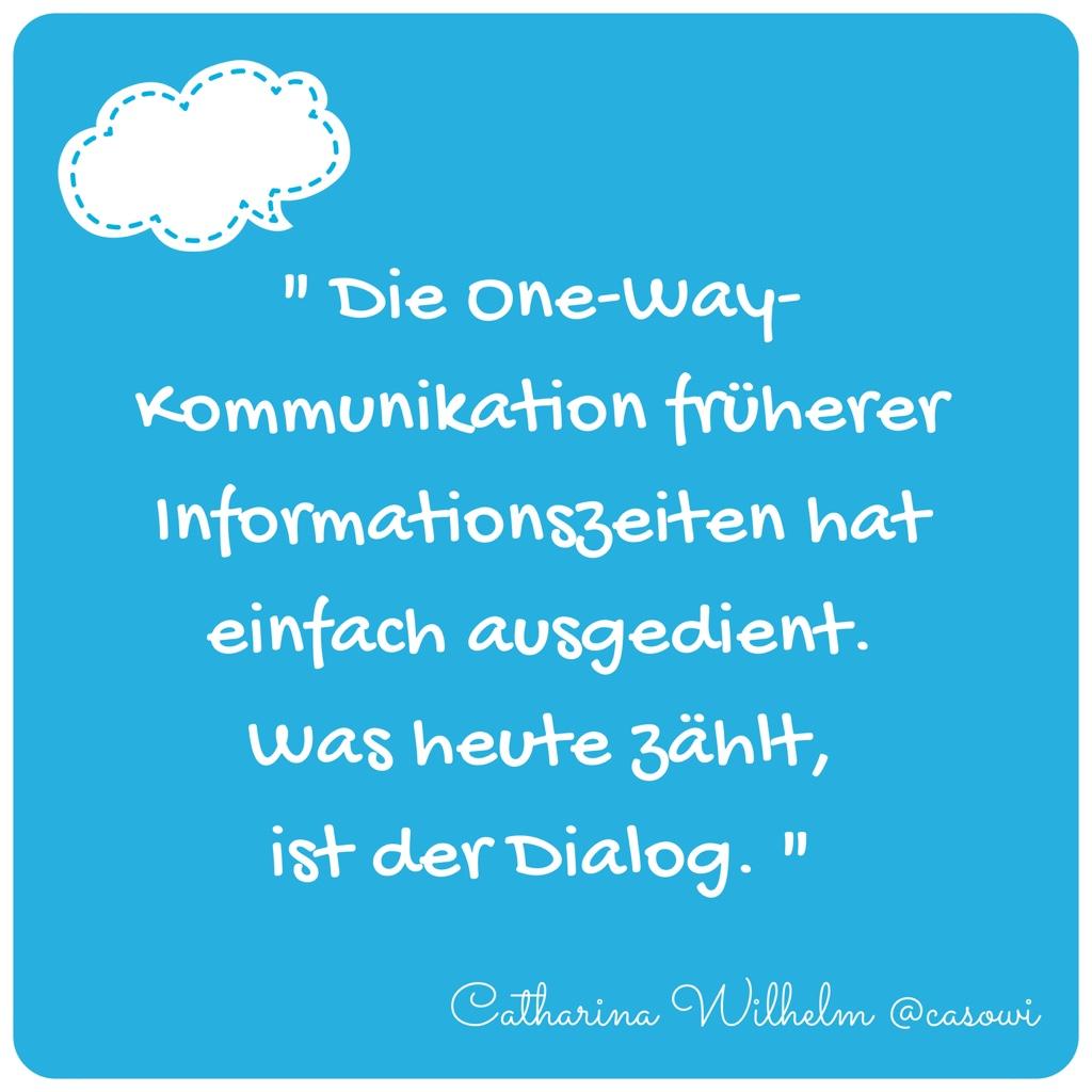 Social Media ist Dialog Casowi