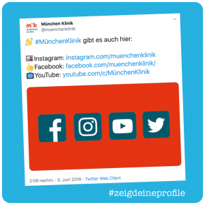 Screenshot Tweet mit Social Media Profilen
