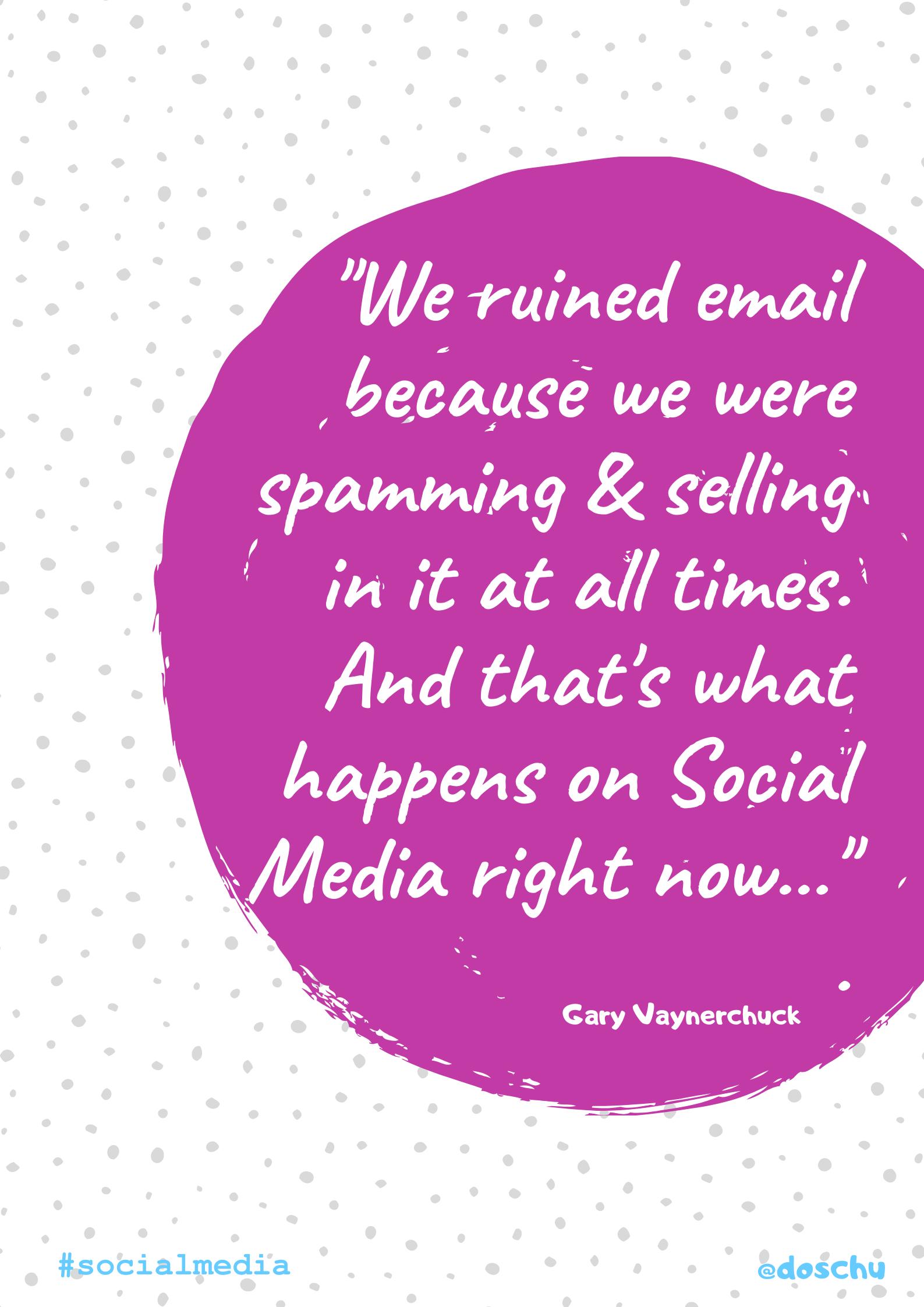 Zitat Gary Vaynerchuck: eMail's death