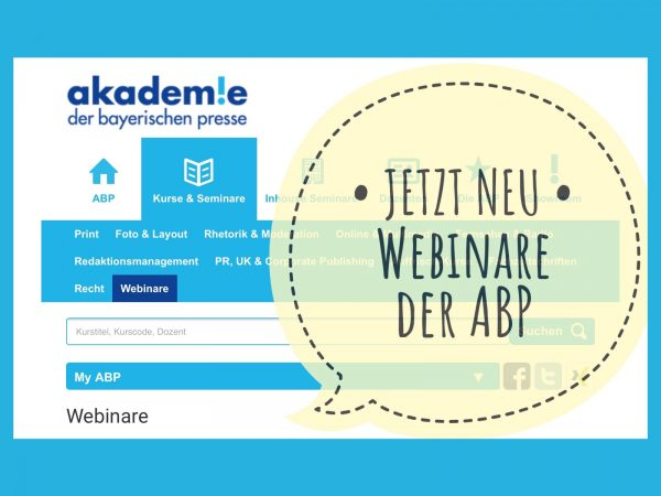 Neu: Webinare an der ABP