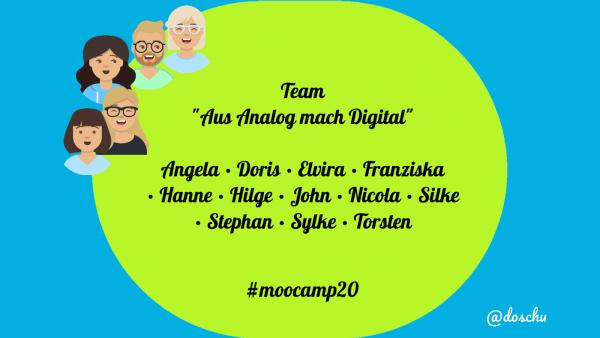 "Dreamteam Lerngruppe ""Aus Analog mach Digital"" #moocamp20"